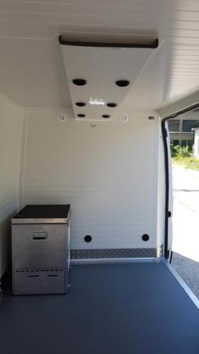 Pharmacy installation Fiat Ducato